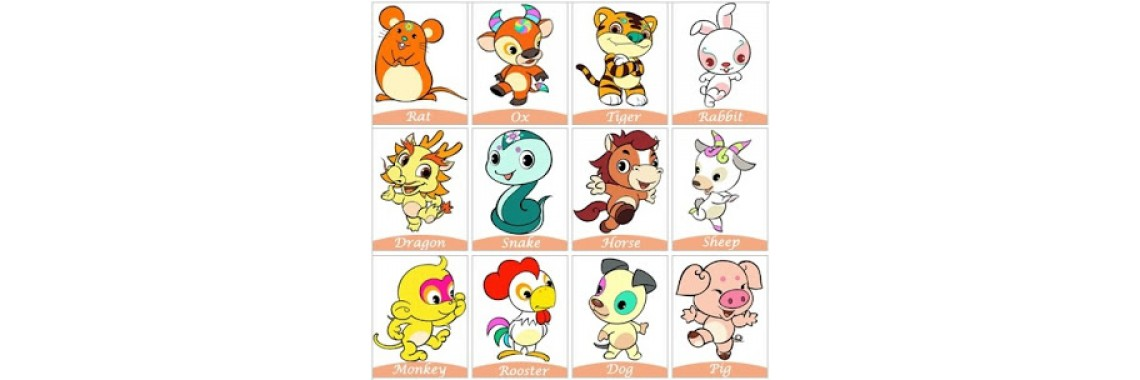 Chinese Zodiacs & the Years of 12 Animals