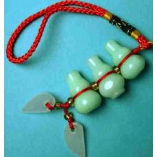 3-Treasure Gourd Hard Jade Charm
