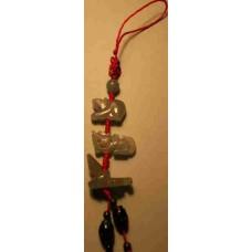 Dragon & Rat & Snake Jadeite Charm