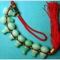 8-Treasure Gourd Hard Jade Charm