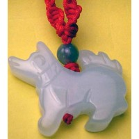 Dog Large Jade Necklace