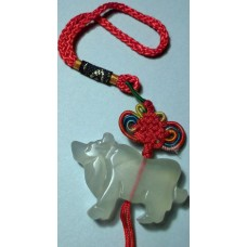 Ox Large Jade Charm