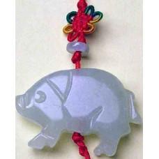 Pig Large Jade Charm