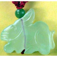Rabbit Large Jade Charm