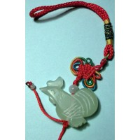 Rooster Large Jade Charm