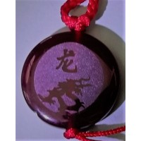 Dragon Red Agate Round Necklace