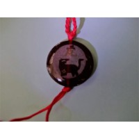 Tiger Red Agate Round Necklace