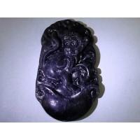 Black Jade Monkey Necklace