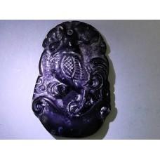 Black Jade Rooster Necklace