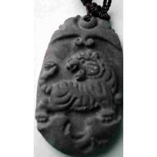 Tiger Black Jade Necklace