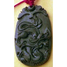 Black Jade Dragon Necklace