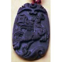 Horse Black Jade Necklace