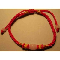 Red & Yellow Chinese Silk Bracelet