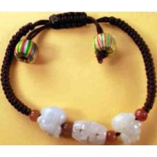 2-Pig Jadeite Bracelet
