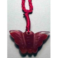Butterfly Red Agate Necklace