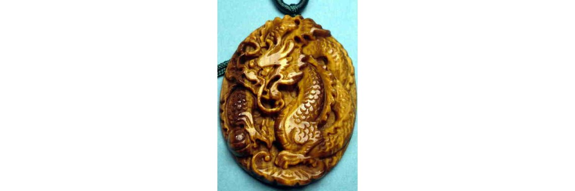 Golden Crystal Chinese Zodiac Dragon Pendant