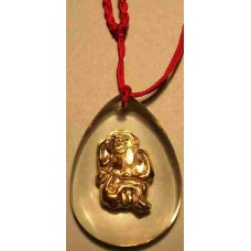 Monkey Crystal Gold-Plated Pendant