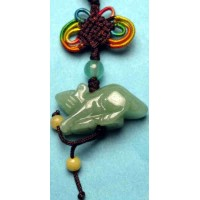 Rat Green Crystal Charm