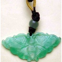 Butterfly Green Jade Charm