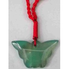 Butterfly Green Jade Necklace