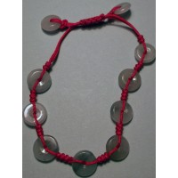 10 Jade Ring Charm Bracelet