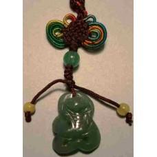 Green Jadeite Snake Charm