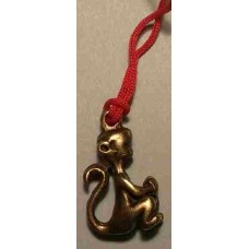Monkey Yellow Copper Charm