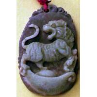Tiger Purple Jade Necklace