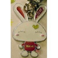 Tuzki Rabbit Phone Strap & Wiper