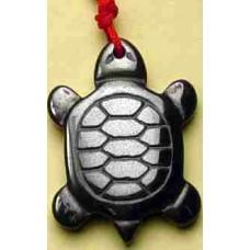 Turtle Hematite Black Charm