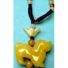 Dog Yellow Jade Necklace