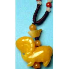 Goat Yellow Jade Necklace
