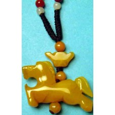 Horse Yellow Jade Necklace